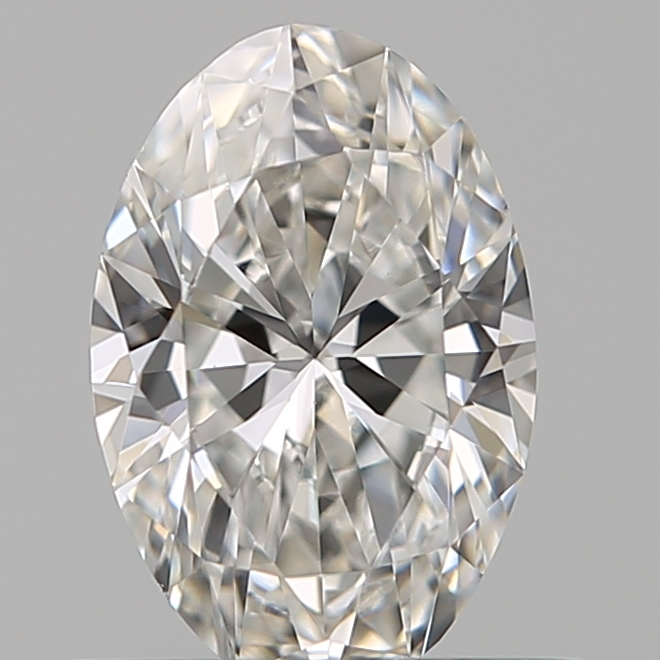 0.53 Carat Oval Loose Diamond, G, VVS2, Ideal, GIA Certified