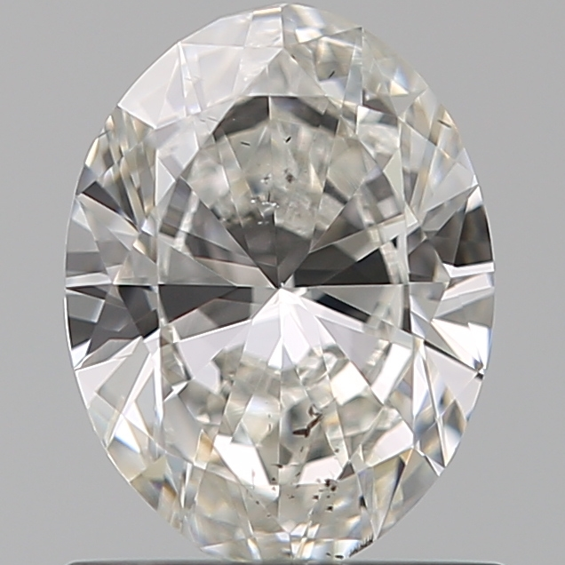0.80 Carat Oval Loose Diamond, H, SI2, Excellent, GIA Certified