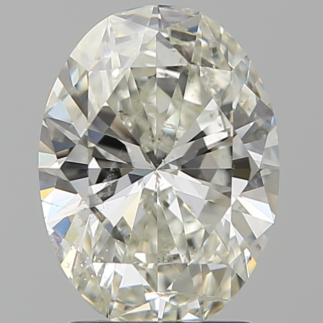 2.01 Carat Oval Loose Diamond, J, SI2, Super Ideal, GIA Certified