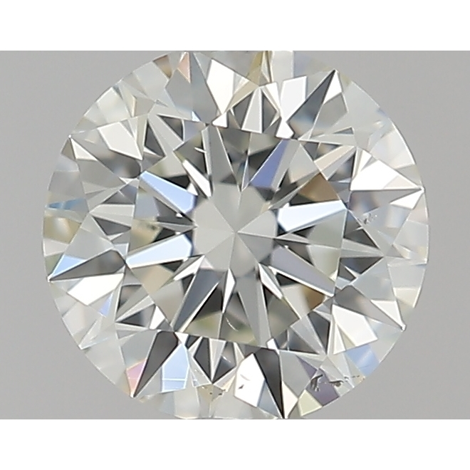 0.50 Carat Round Loose Diamond, J, SI1, Super Ideal, GIA Certified