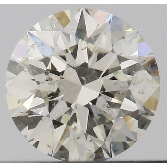 0.33 Carat Round Loose Diamond, K, I1, Super Ideal, GIA Certified