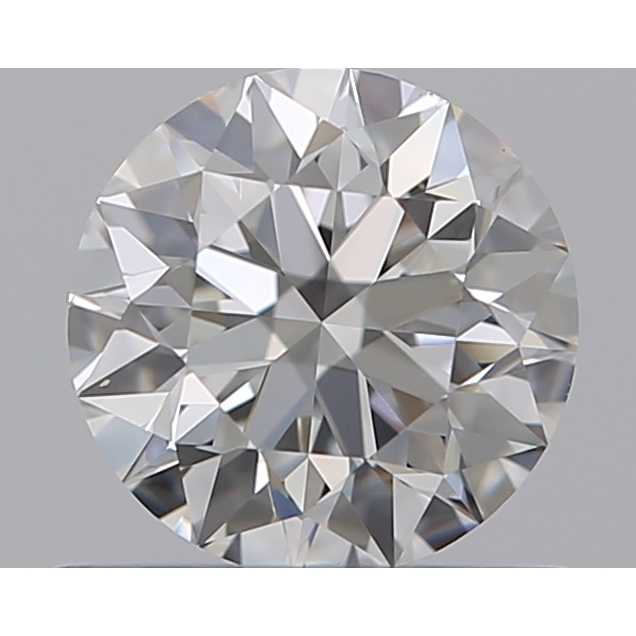 0.60 Carat Round Loose Diamond, F, VS1, Super Ideal, GIA Certified