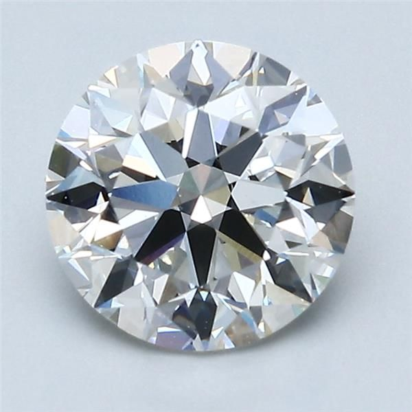 2.06 Carat Round Loose Diamond, G, IF, Super Ideal, GIA Certified