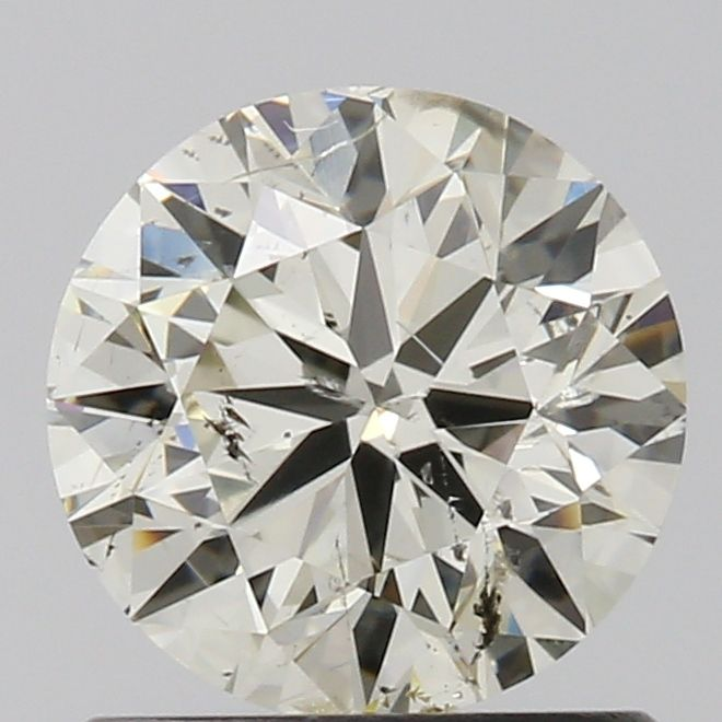 1.00 Carat Round Loose Diamond, M, I1, Excellent, GIA Certified