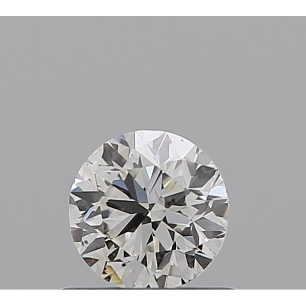 0.50 Carat Round Loose Diamond, H, VS2, Excellent, GIA Certified