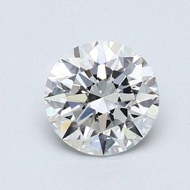 0.90 Carat Round Loose Diamond, H, VVS1, Super Ideal, GIA Certified