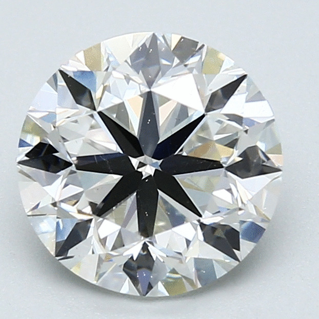 2.51 Carat Round Loose Diamond, H, VS2, Excellent, GIA Certified