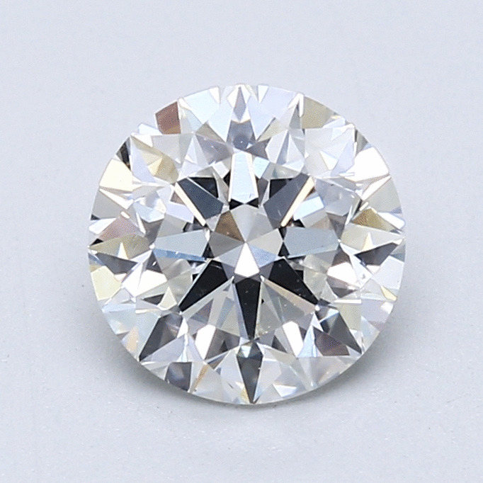 1.59 Carat Round Loose Diamond, F, SI1, Super Ideal, GIA Certified