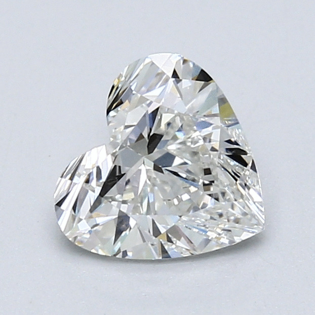 1.11 Carat Heart Loose Diamond, H, VS1, Super Ideal, GIA Certified