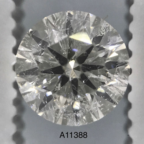 1.00 Carat Round Loose Diamond, H, SI3, Ideal, EGL Certified | Thumbnail
